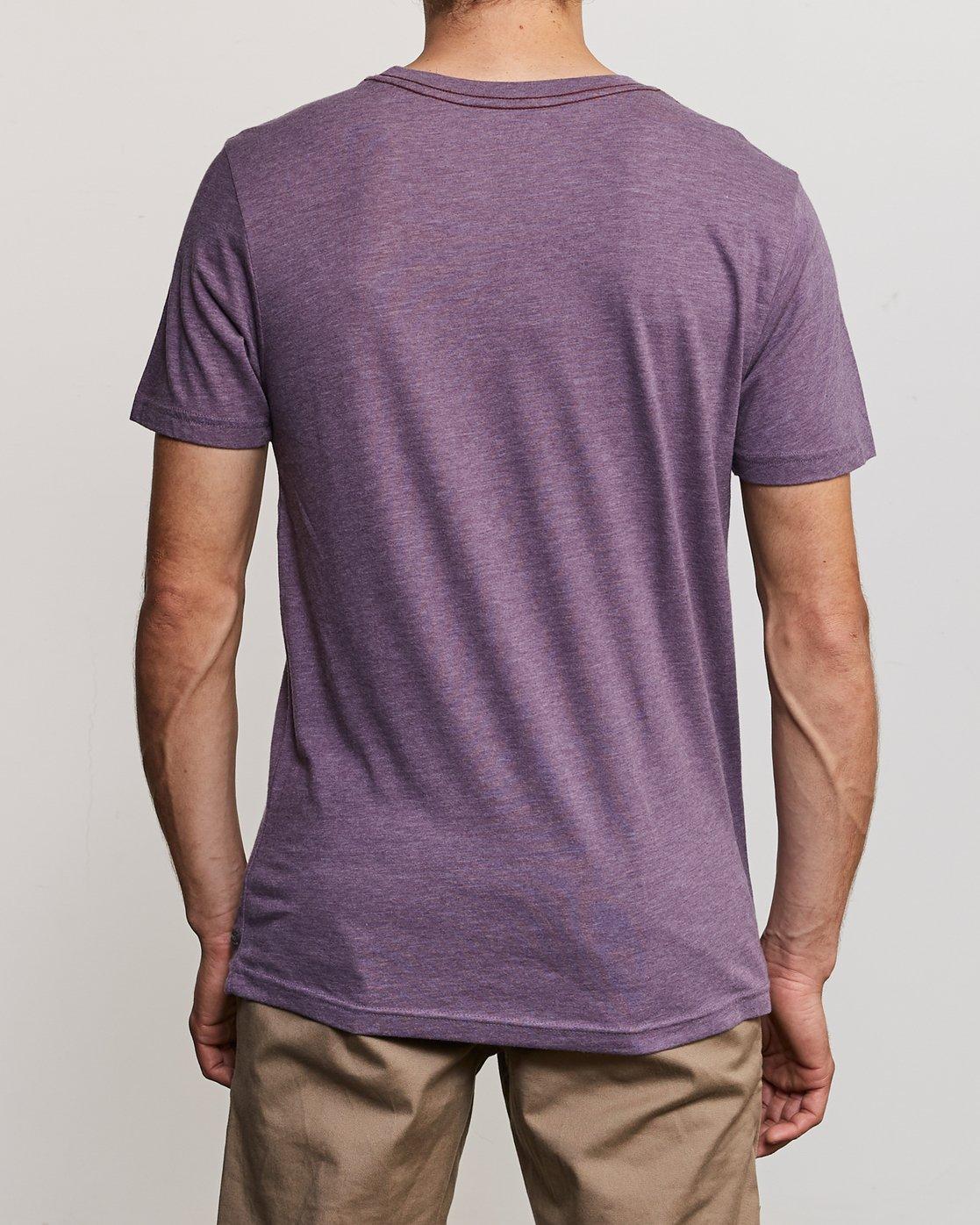 3 Solo Label T-Shirt Purple M420URSO RVCA