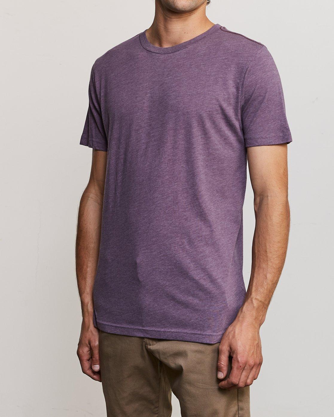 2 Solo Label T-Shirt Purple M420URSO RVCA