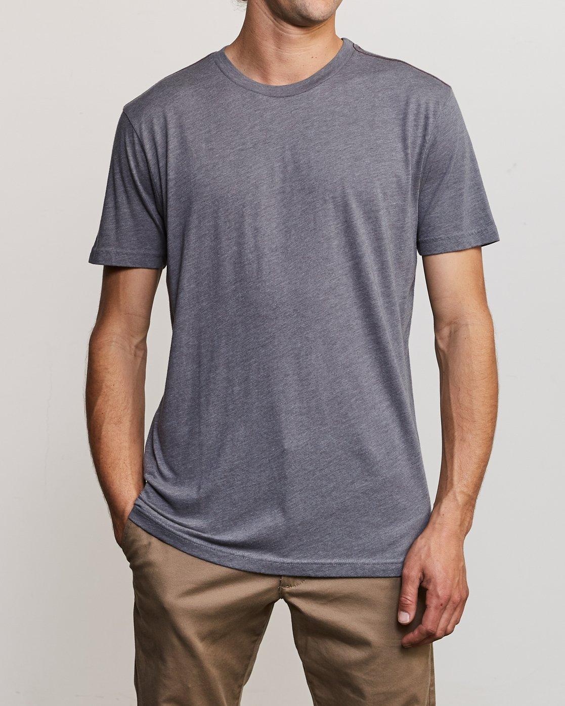 1 Solo Label T-Shirt Grey M420URSO RVCA