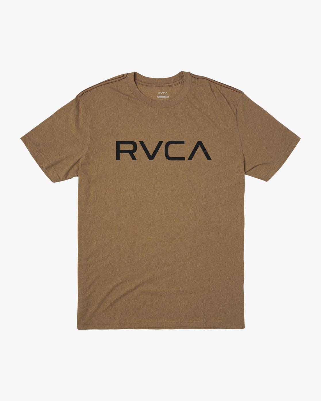 0 BIG RVCA SHORT SLEEVE TEE Brown M420VRBI RVCA