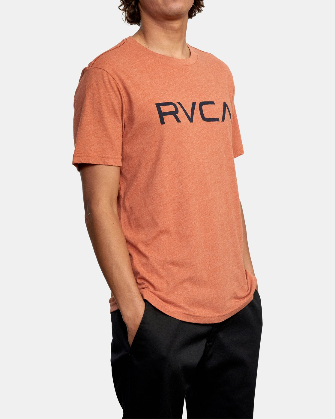 5 BIG RVCA SHORT SLEEVE TEE Brown M420VRBI RVCA