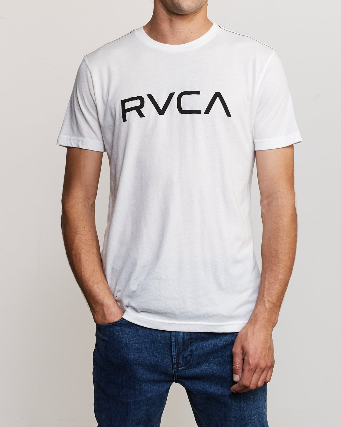 1 Big RVCA T-Shirt White M420VRBI RVCA