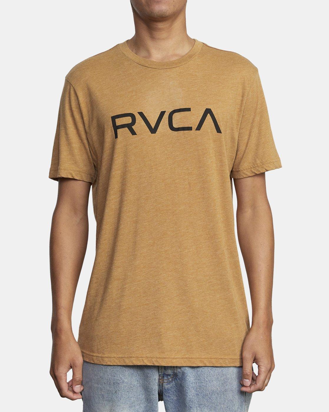1 BIG RVCA SHORT SLEEVE TEE Brown M420VRBI RVCA