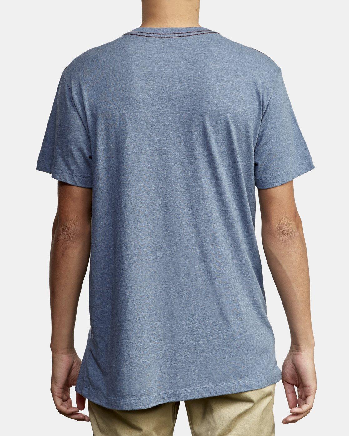 3 Big RVCA T-Shirt Blue M420VRBI RVCA