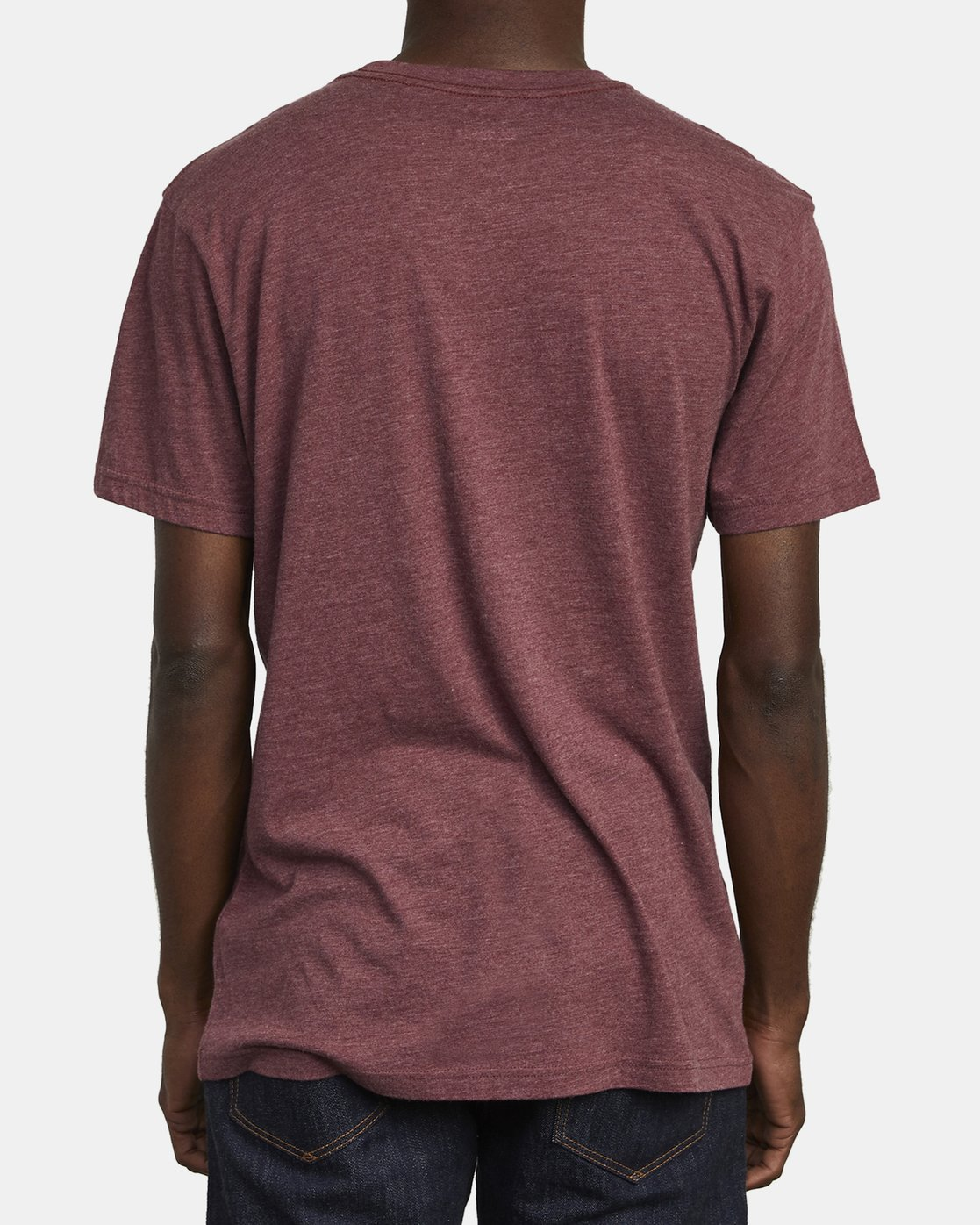 5 BIG RVCA T-SHIRT Red M420VRBI RVCA