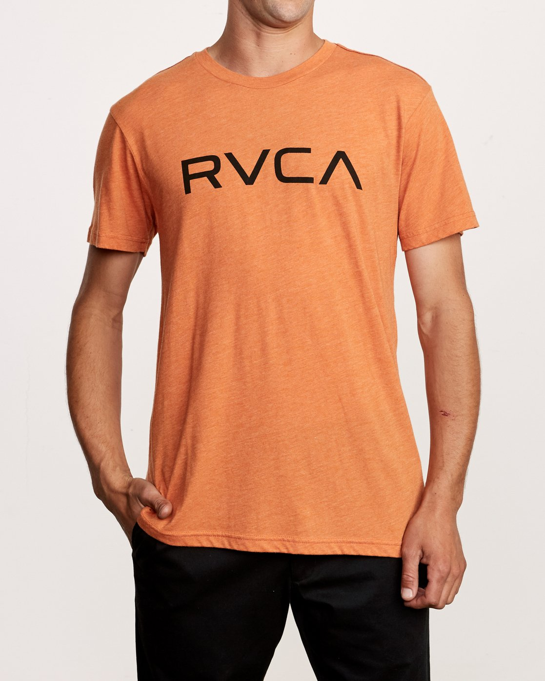 1 Big RVCA T-Shirt Orange M420VRBI RVCA
