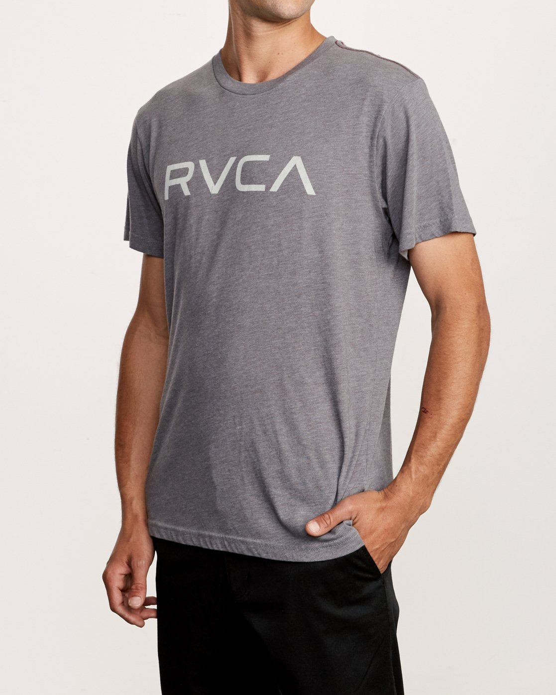 3 Big RVCA T-Shirt Grey M420VRBI RVCA