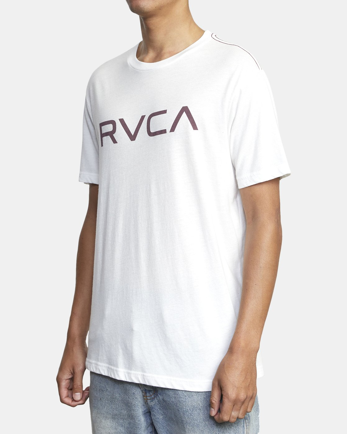 2 BIG RVCA SHORT SLEEVE TEE White M420VRBI RVCA