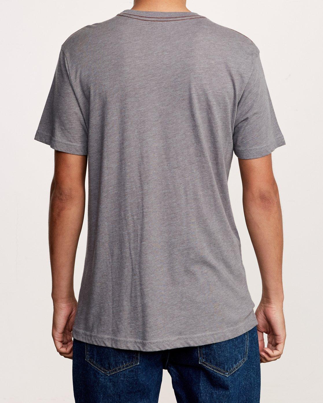 3 Cobrad T-Shirt Grey M420VRCO RVCA