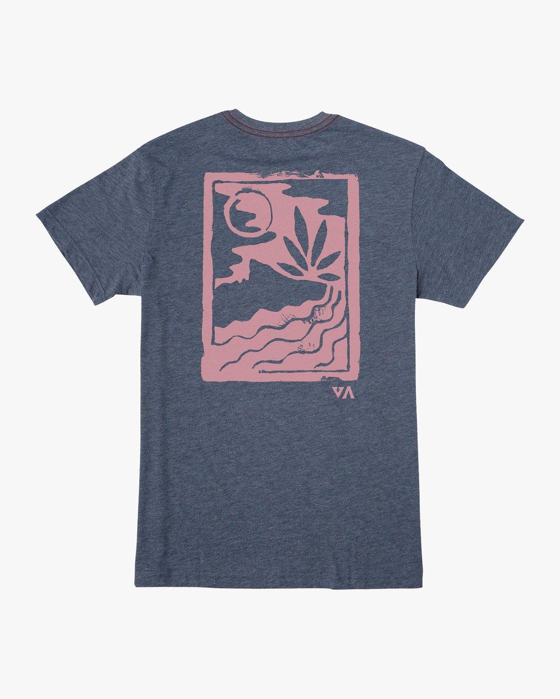 0 Mowgli Linocut T-Shirt Blue M420VRLI RVCA