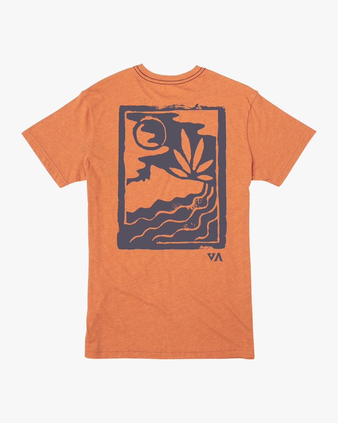 0 Mowgli Linocut T-Shirt Orange M420VRLI RVCA