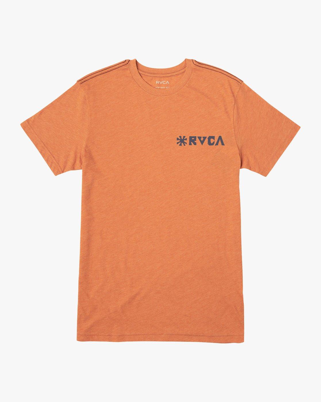 1 Mowgli Linocut T-Shirt Orange M420VRLI RVCA