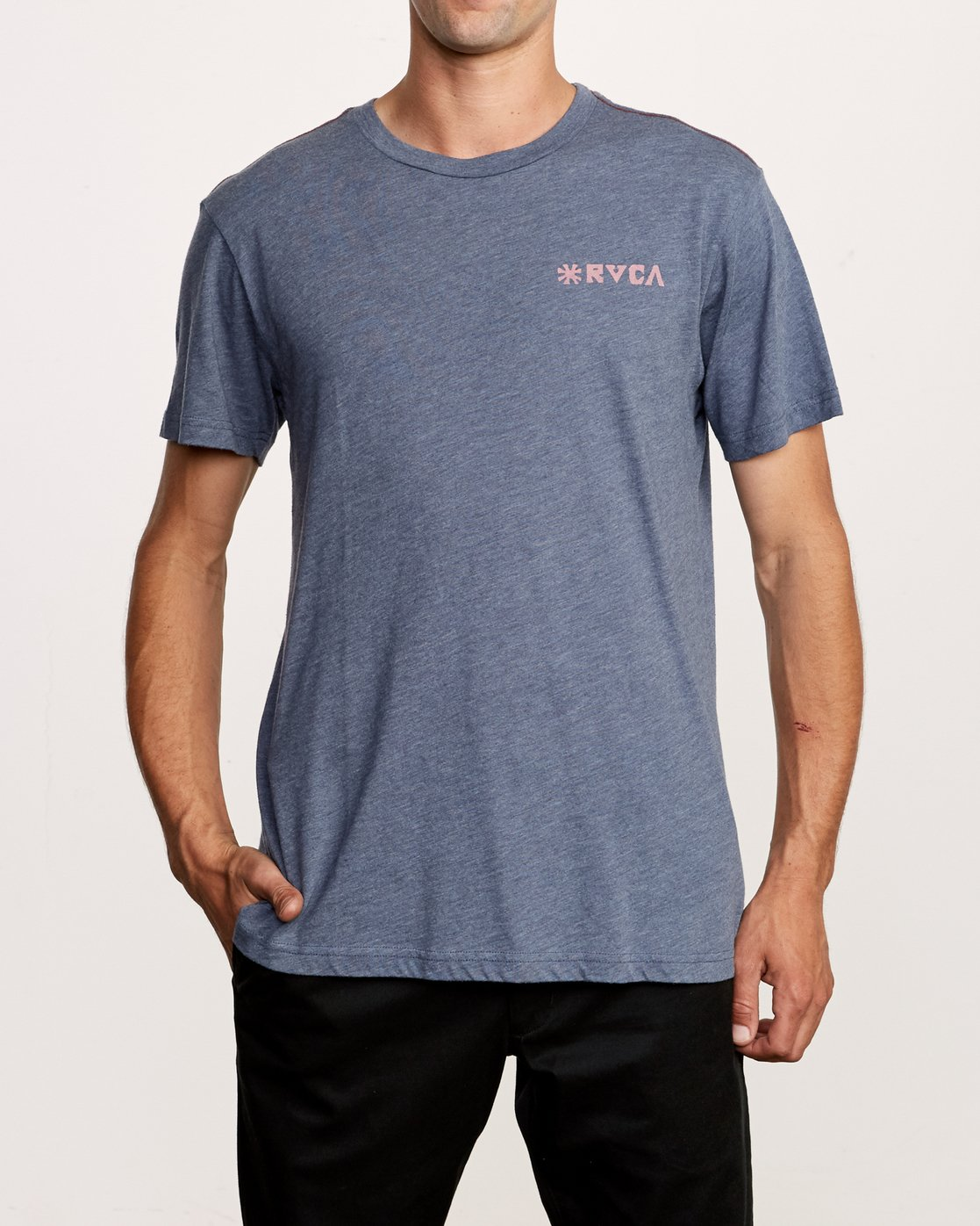 2 Mowgli Linocut T-Shirt Blue M420VRLI RVCA