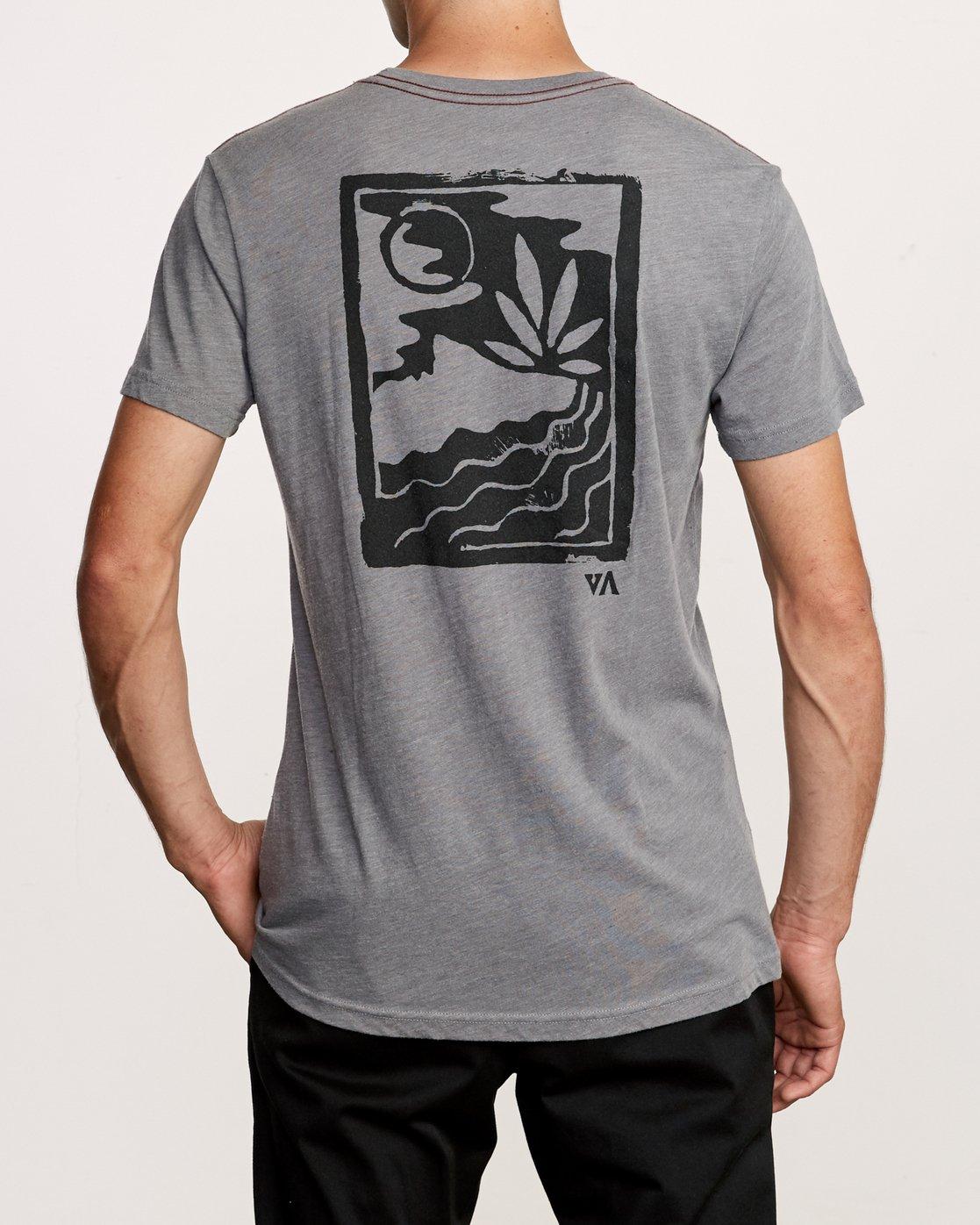 4 Mowgli Linocut T-Shirt Grey M420VRLI RVCA