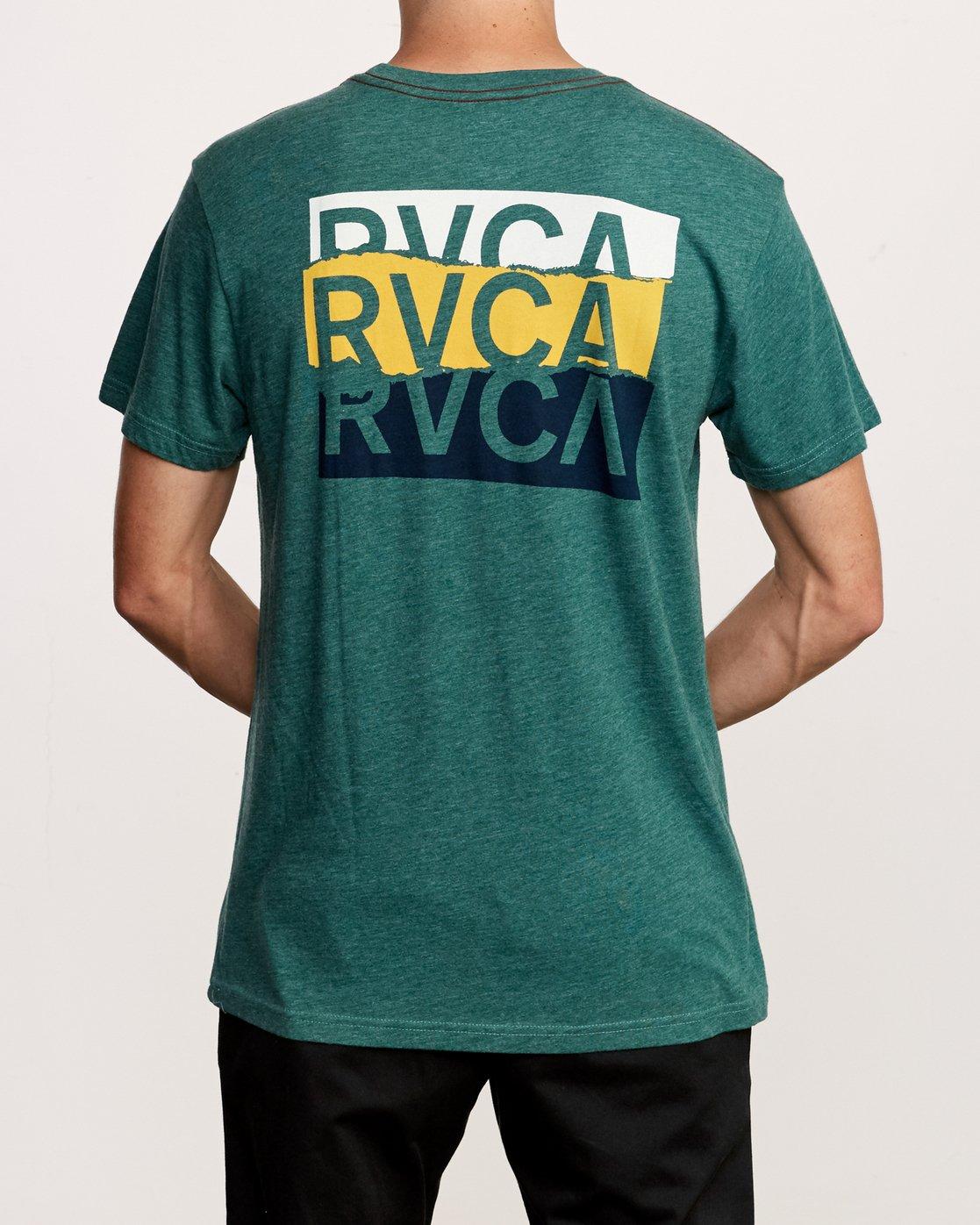 4 Overlap T-Shirt Green M420VROV RVCA