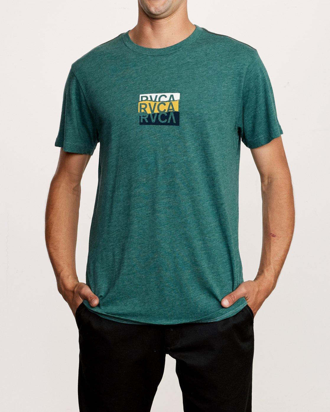 2 Overlap T-Shirt Green M420VROV RVCA