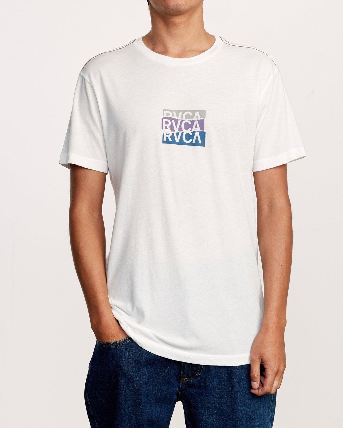 2 Overlap T-Shirt White M420VROV RVCA