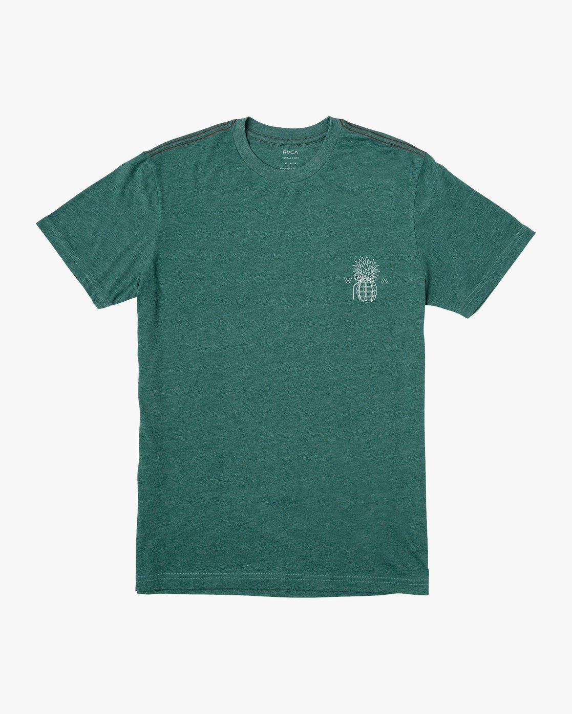 1 Pin Hawaii T-Shirt Grey M420VRPI RVCA