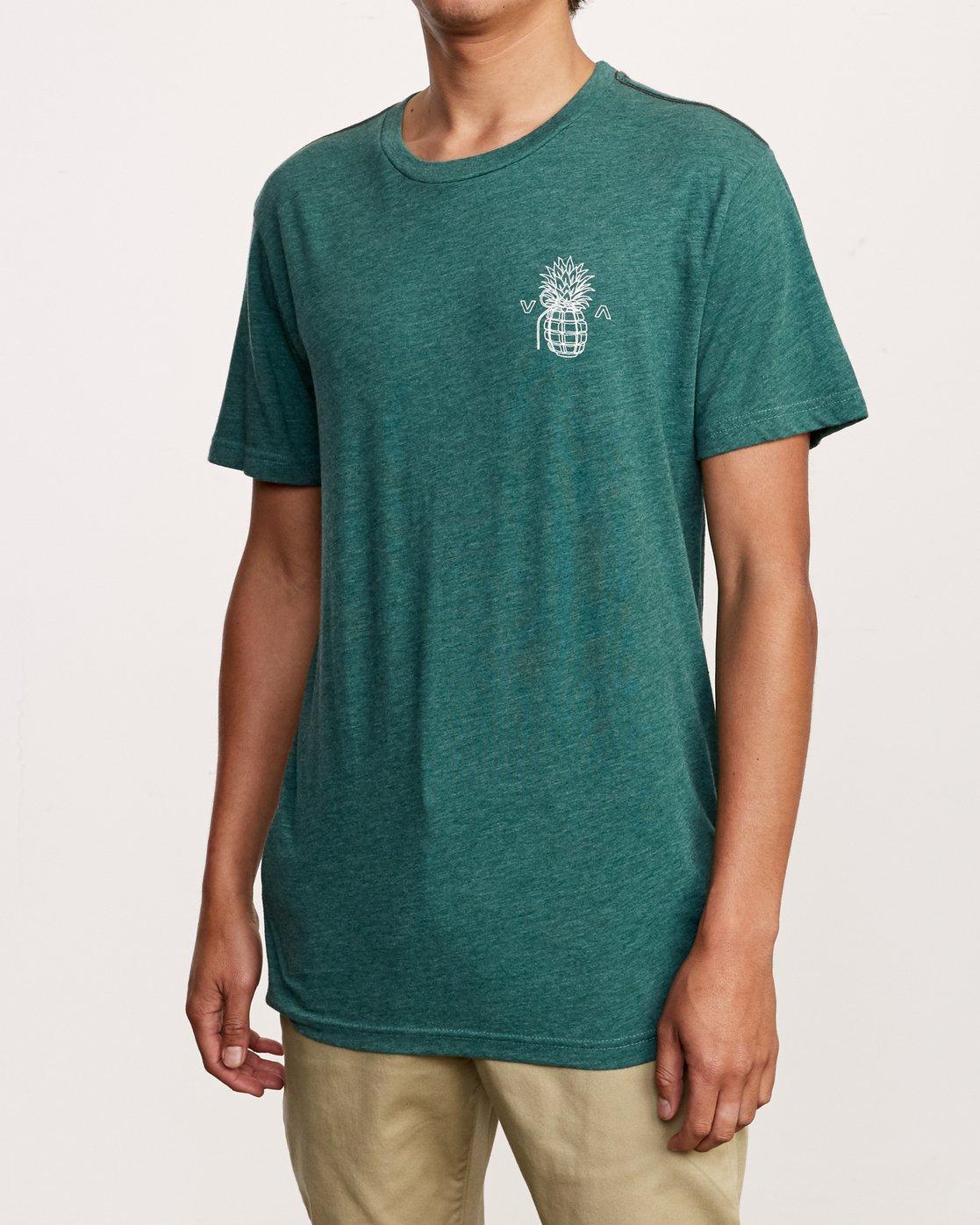 3 Pin Hawaii T-Shirt Grey M420VRPI RVCA