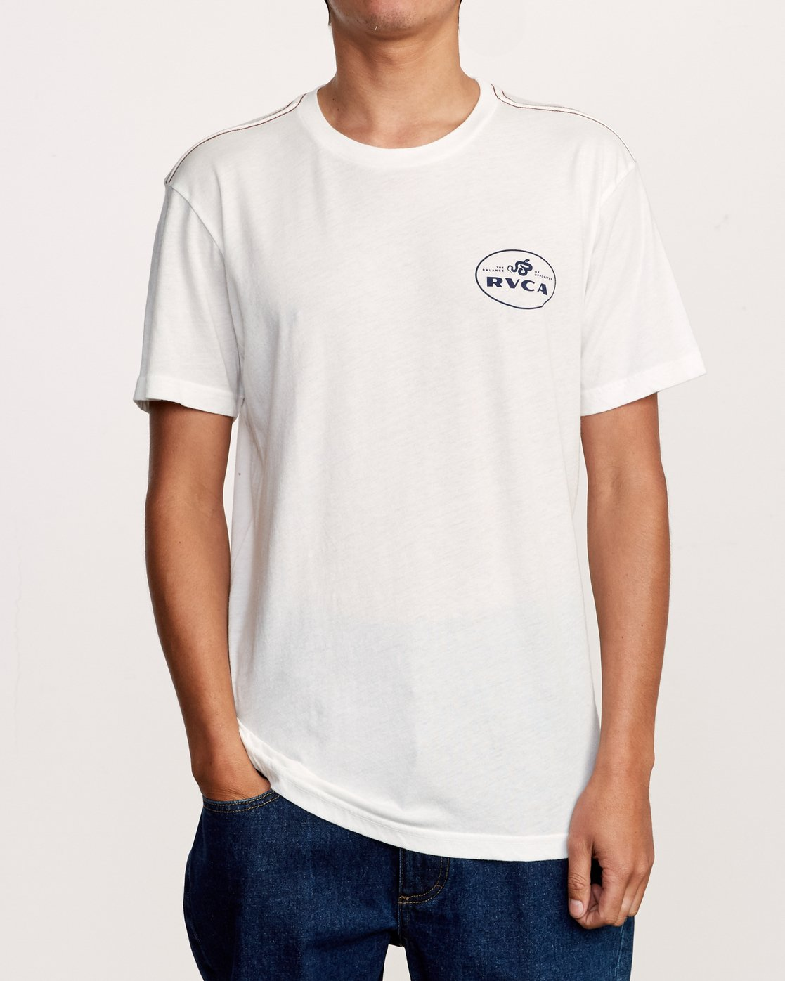 3 Serpent T-Shirt White M420VRSE RVCA