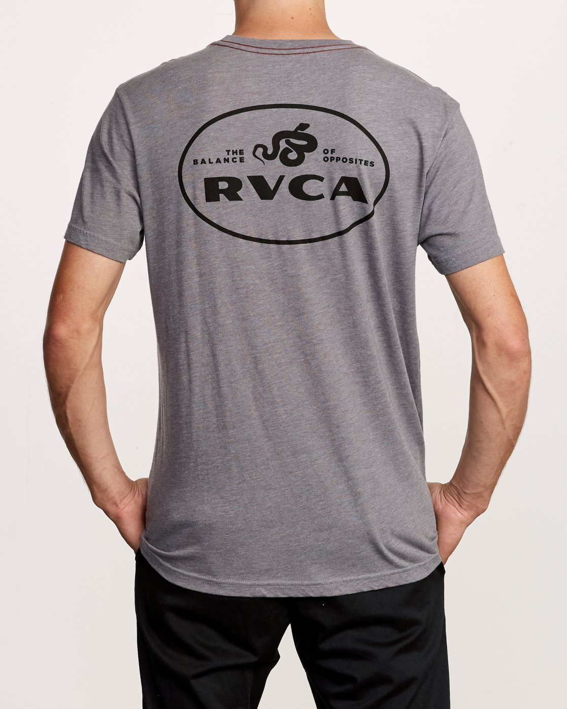4 Serpent T-Shirt Grey M420VRSE RVCA