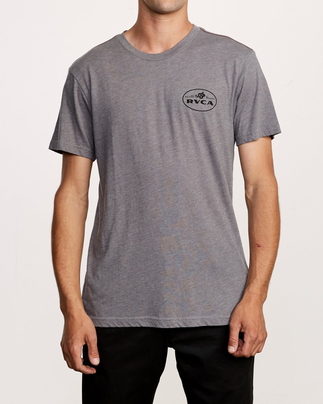 2 Serpent T-Shirt Grey M420VRSE RVCA