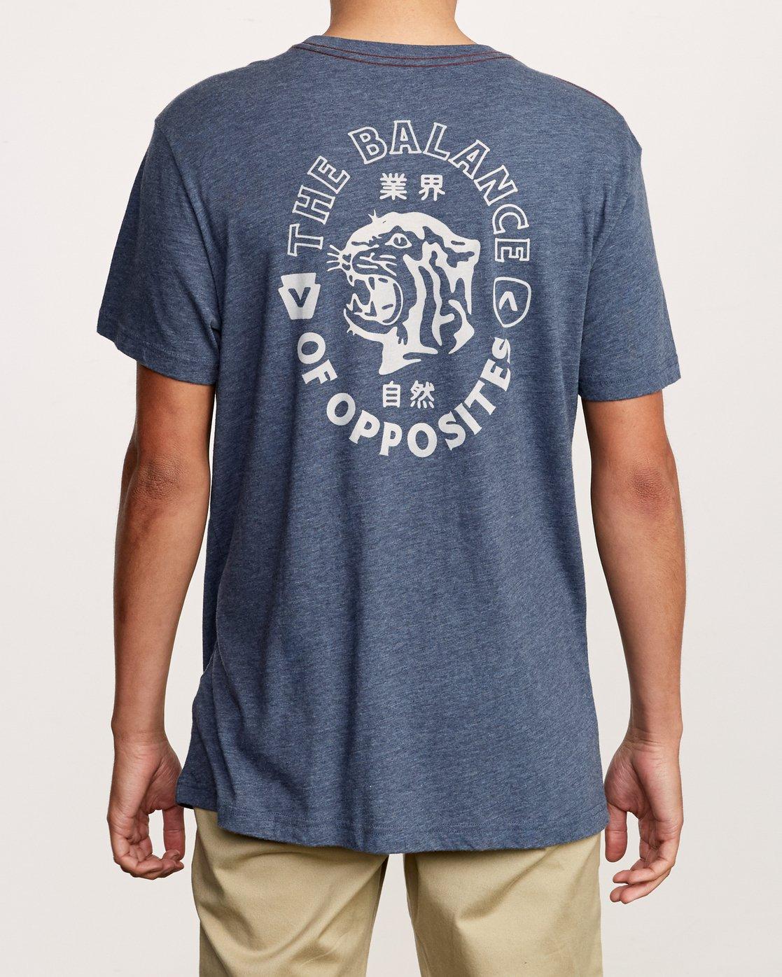 4 Siam T-Shirt Blue M420VRSI RVCA