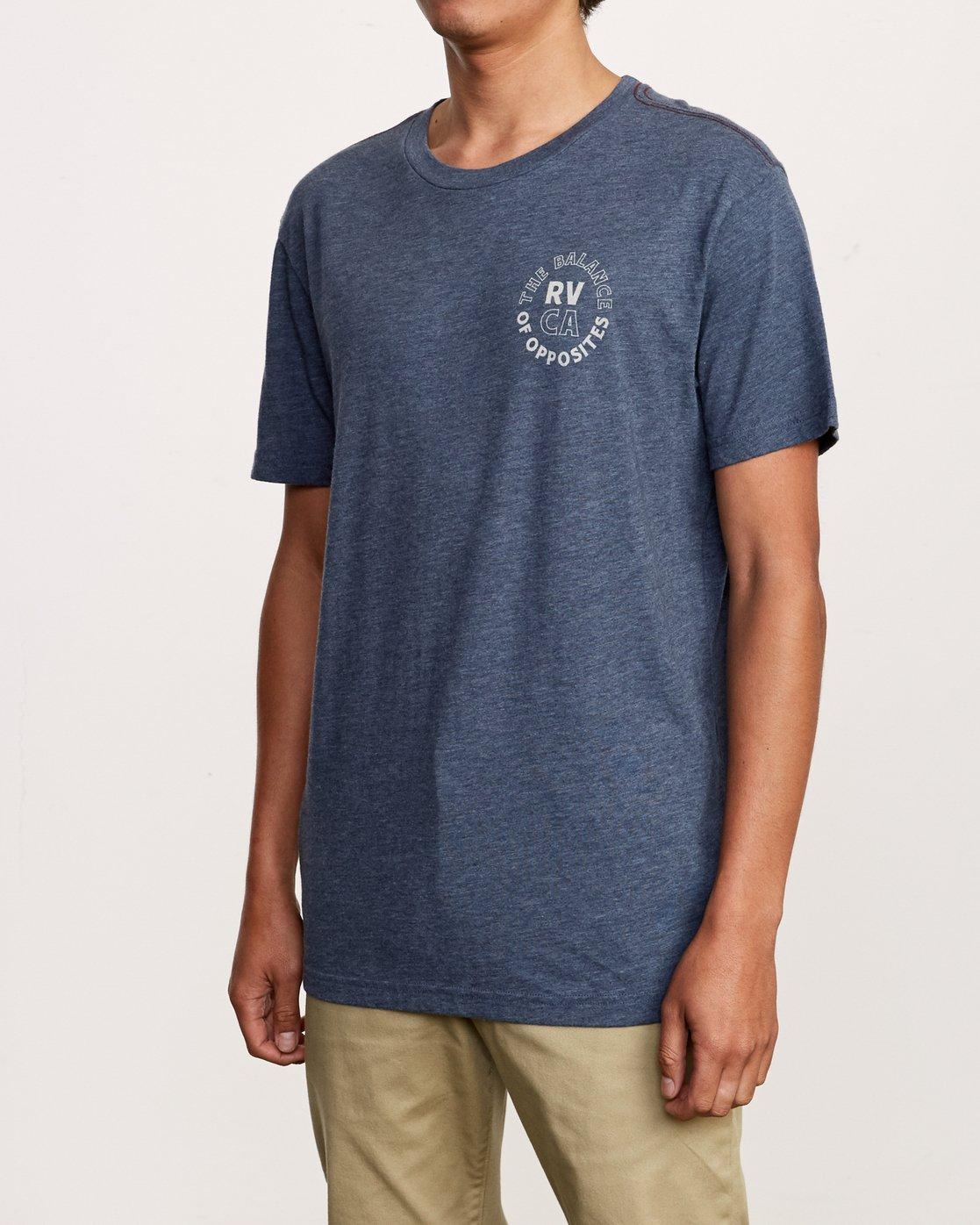 3 Siam T-Shirt Blue M420VRSI RVCA