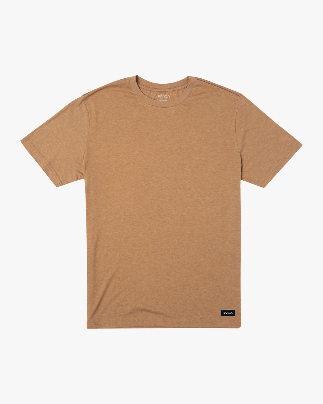 0 SOLO LABEL SHORT SLEEVE TEE Brown M420VRSO RVCA