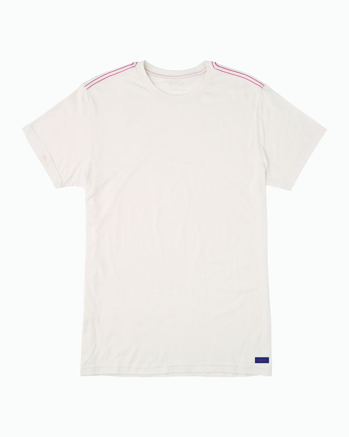 0 Solo Label T-Shirt White M420VRSO RVCA