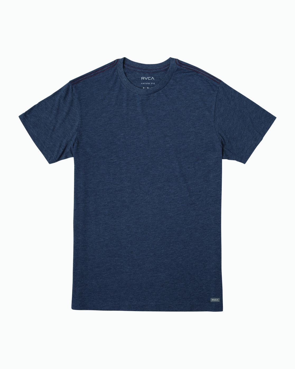 0 Solo Label T-Shirt Blue M420VRSO RVCA
