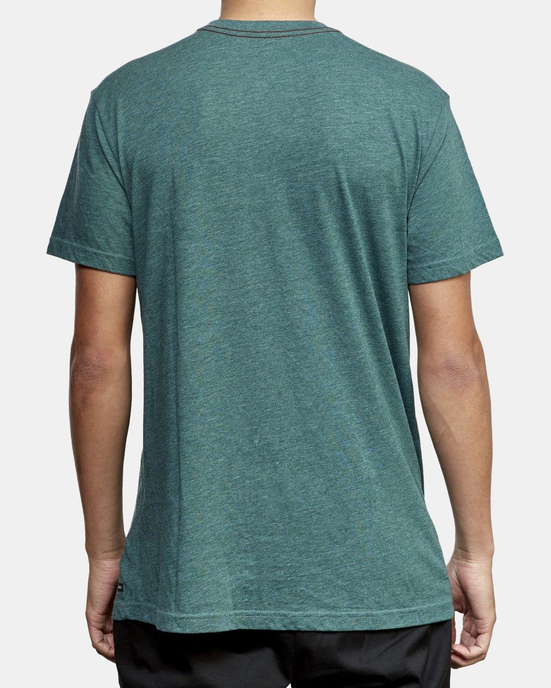 3 Solo Label T-Shirt Green M420VRSO RVCA