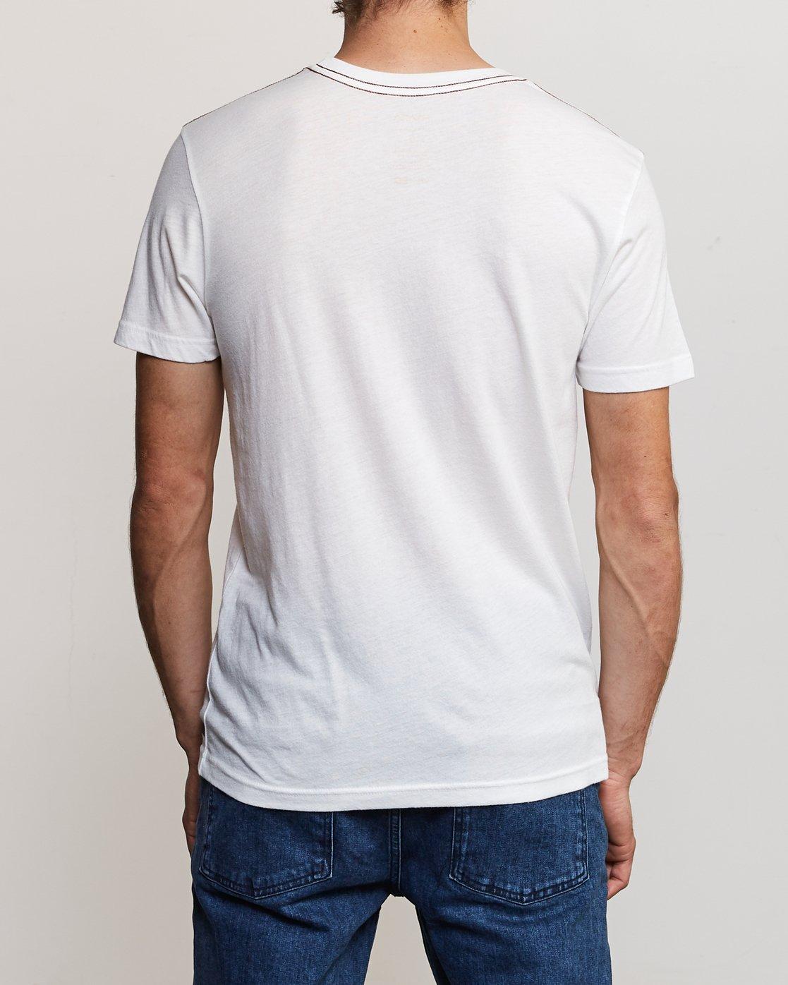 3 Solo Label T-Shirt White M420VRSO RVCA