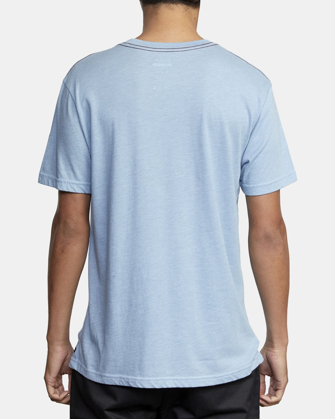 4 SOLO LABEL SHORT SLEEVE TEE Blue M420VRSO RVCA