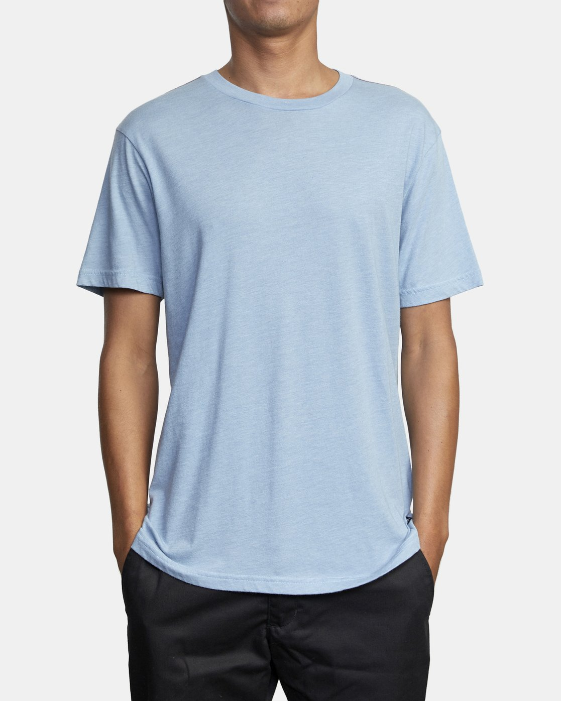 2 SOLO LABEL SHORT SLEEVE TEE Blue M420VRSO RVCA