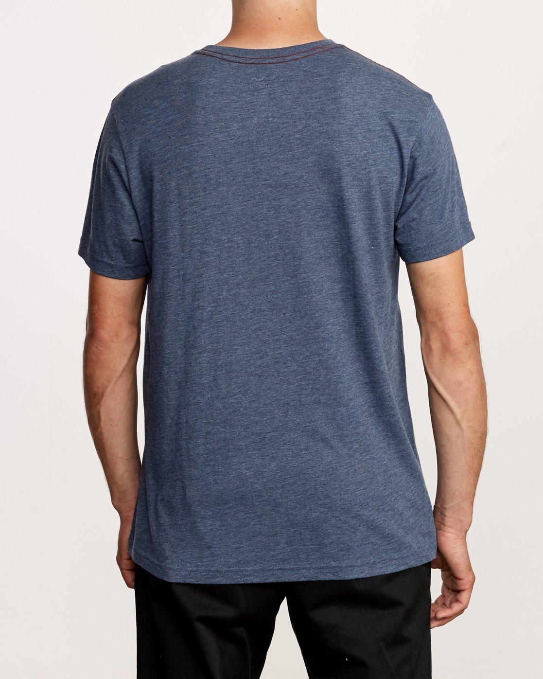 3 Solo Label T-Shirt Blue M420VRSO RVCA