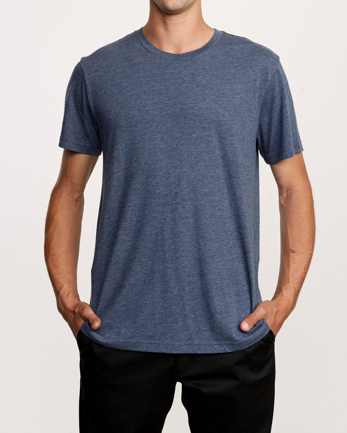 1 Solo Label T-Shirt Blue M420VRSO RVCA
