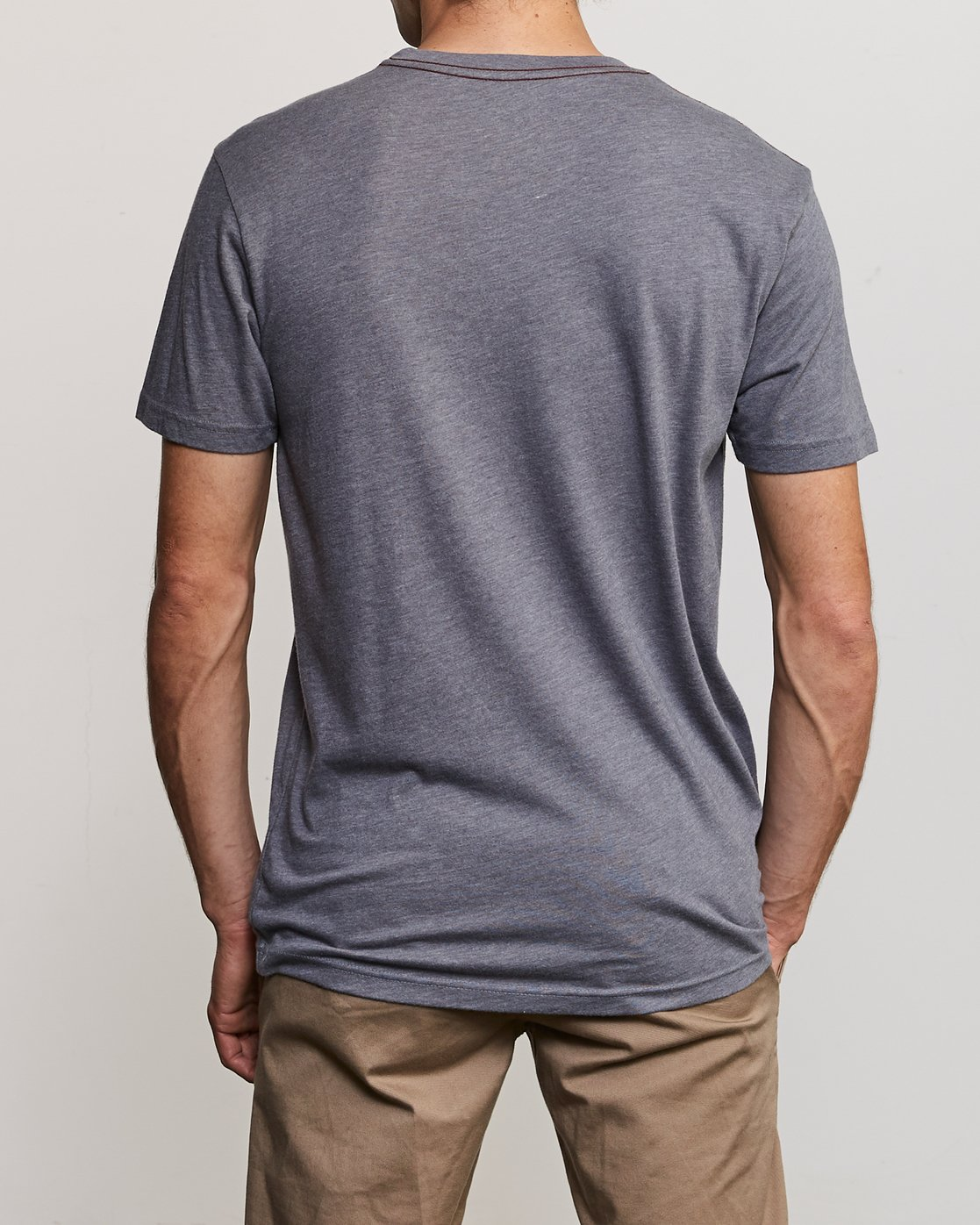 3 Solo Label T-Shirt Grey M420VRSO RVCA