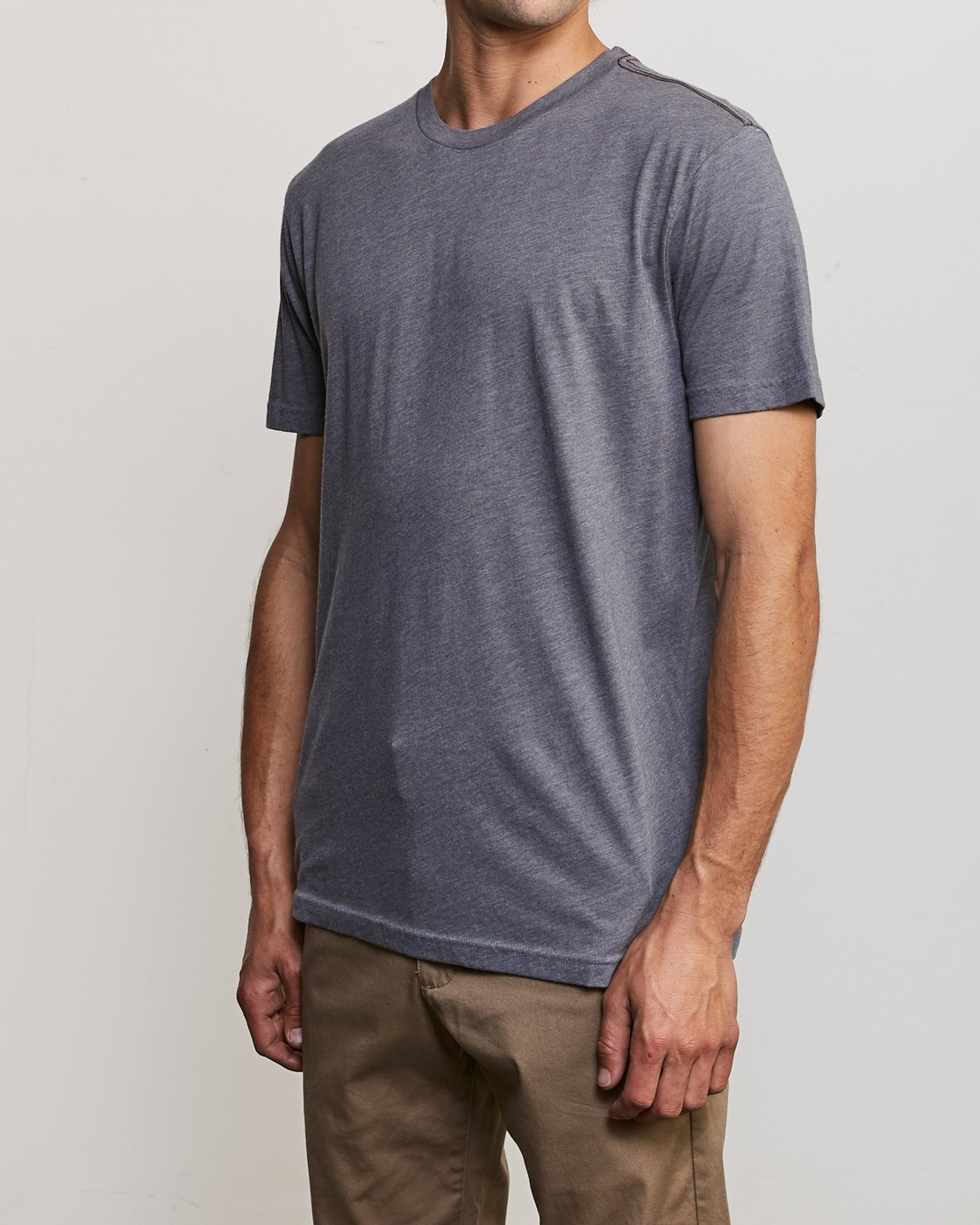 2 Solo Label T-Shirt Grey M420VRSO RVCA