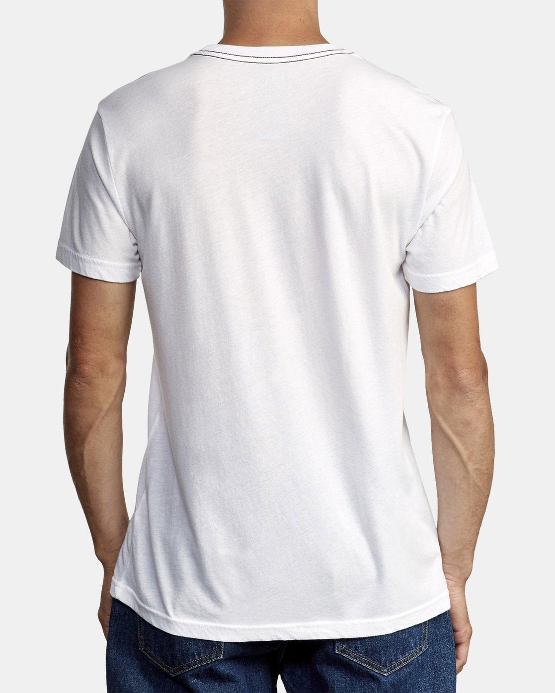 3 Ben Horton Here Lies T-Shirt White M420WRHE RVCA