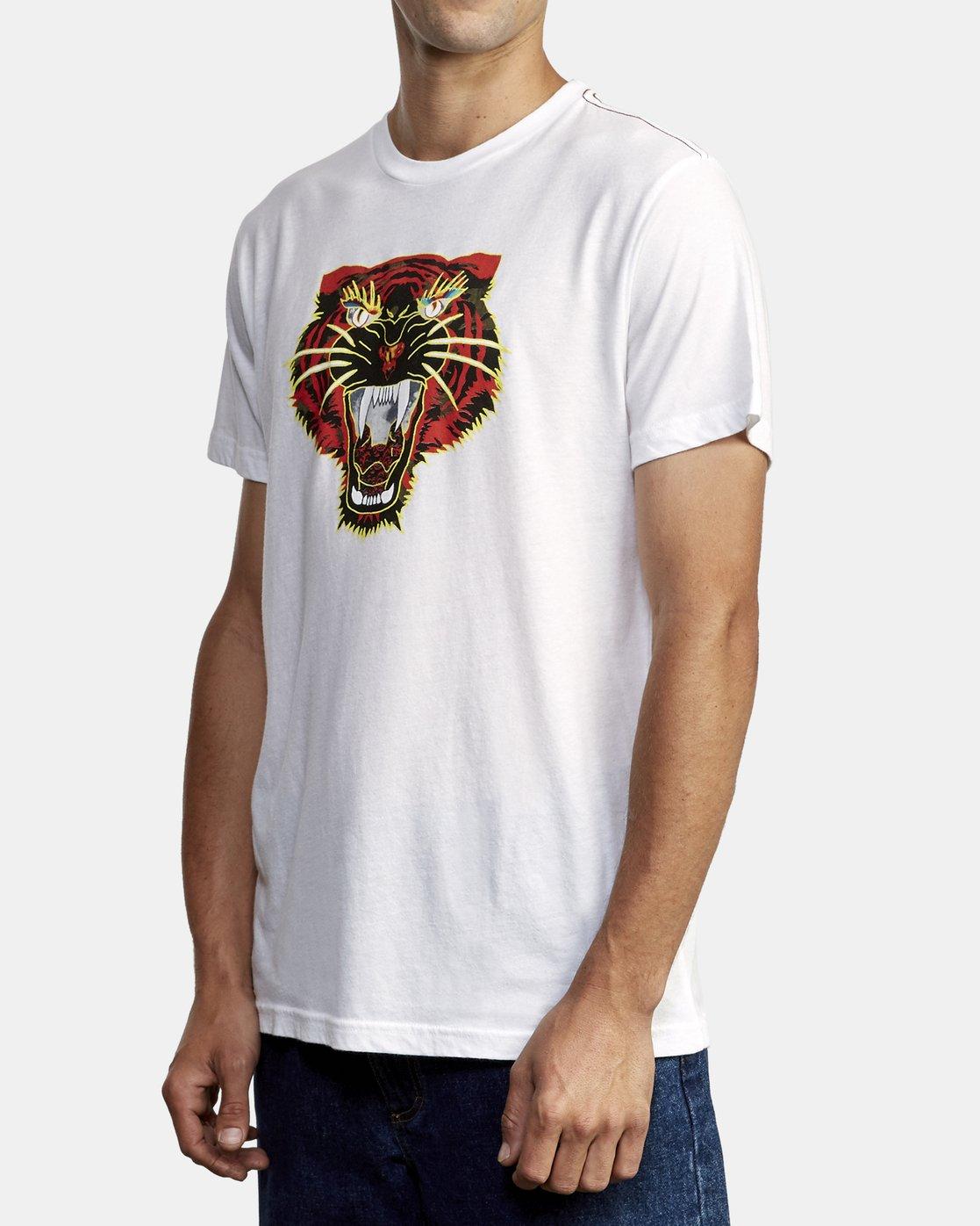 2 Ben Venom Night Lurker T-Shirt White M420WRNL RVCA