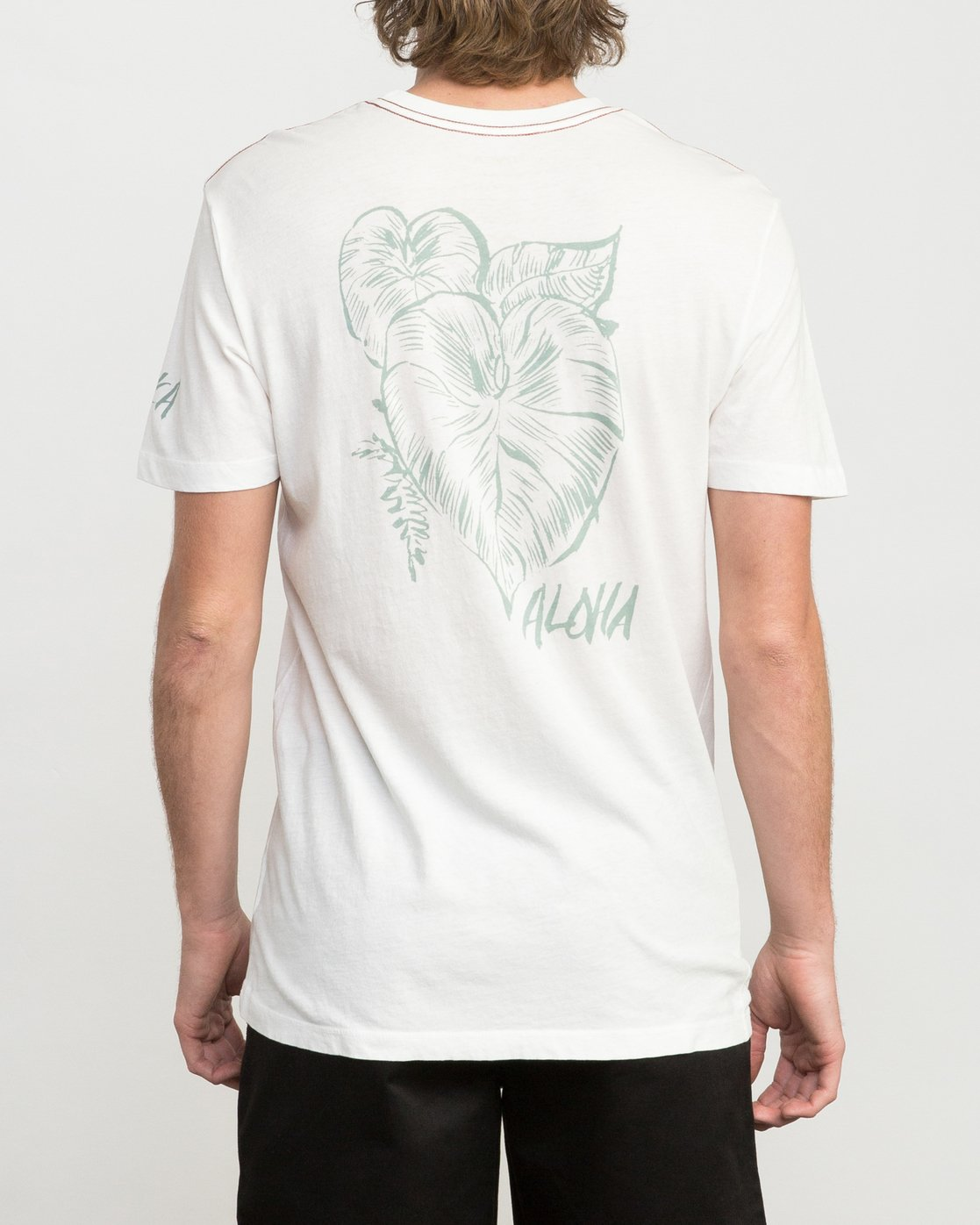4 Big Leaf T-Shirt White M422PRIS RVCA