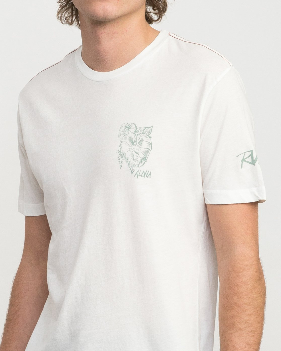 5 Big Leaf T-Shirt White M422PRIS RVCA