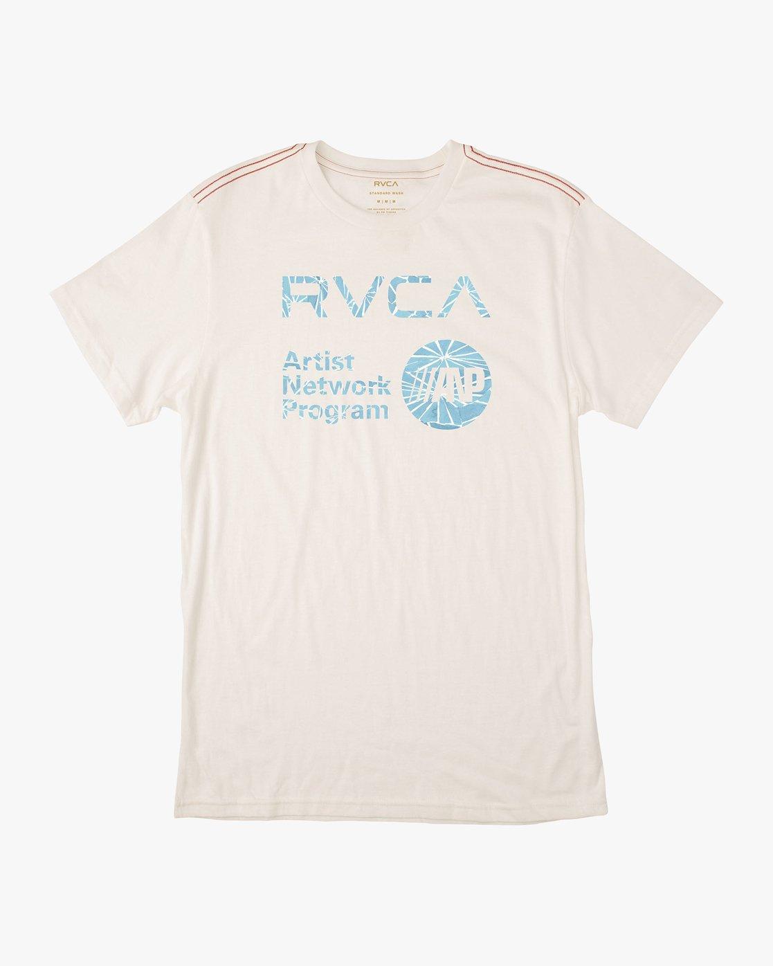 0 ANP Fill T-Shirt White M422QRAN RVCA