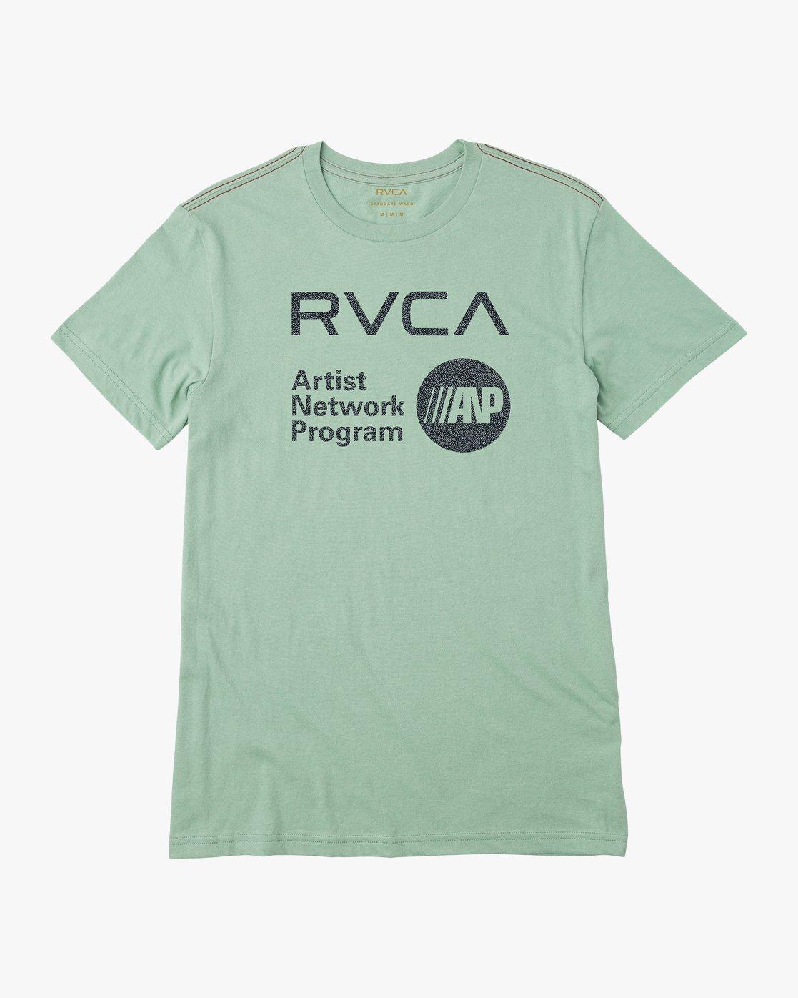 0 ANP Fill T-Shirt Green M422QRAN RVCA