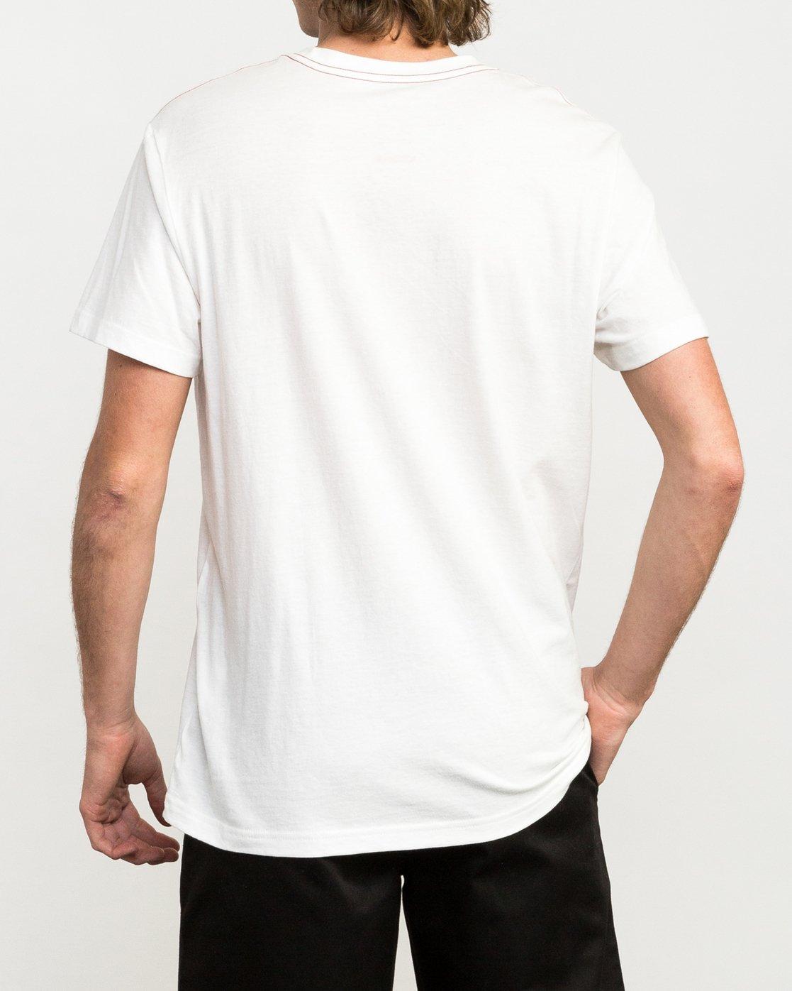 3 ANP Fill T-Shirt White M422QRAN RVCA