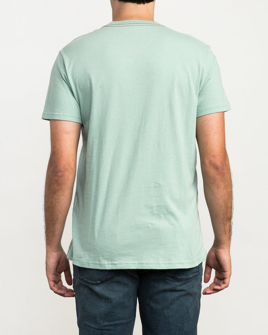 2 ANP Fill T-Shirt Green M422QRAN RVCA