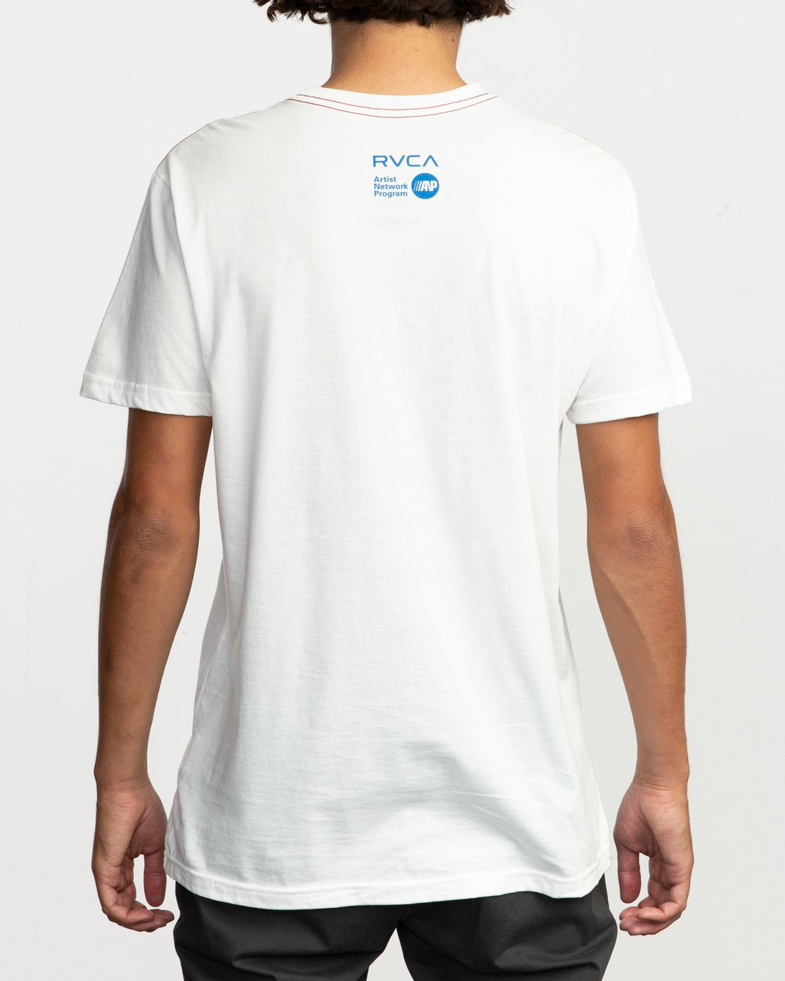 4 RVCA Platform Matt Gordon Surfin Dolphin T-Shirt White M422QRSD RVCA