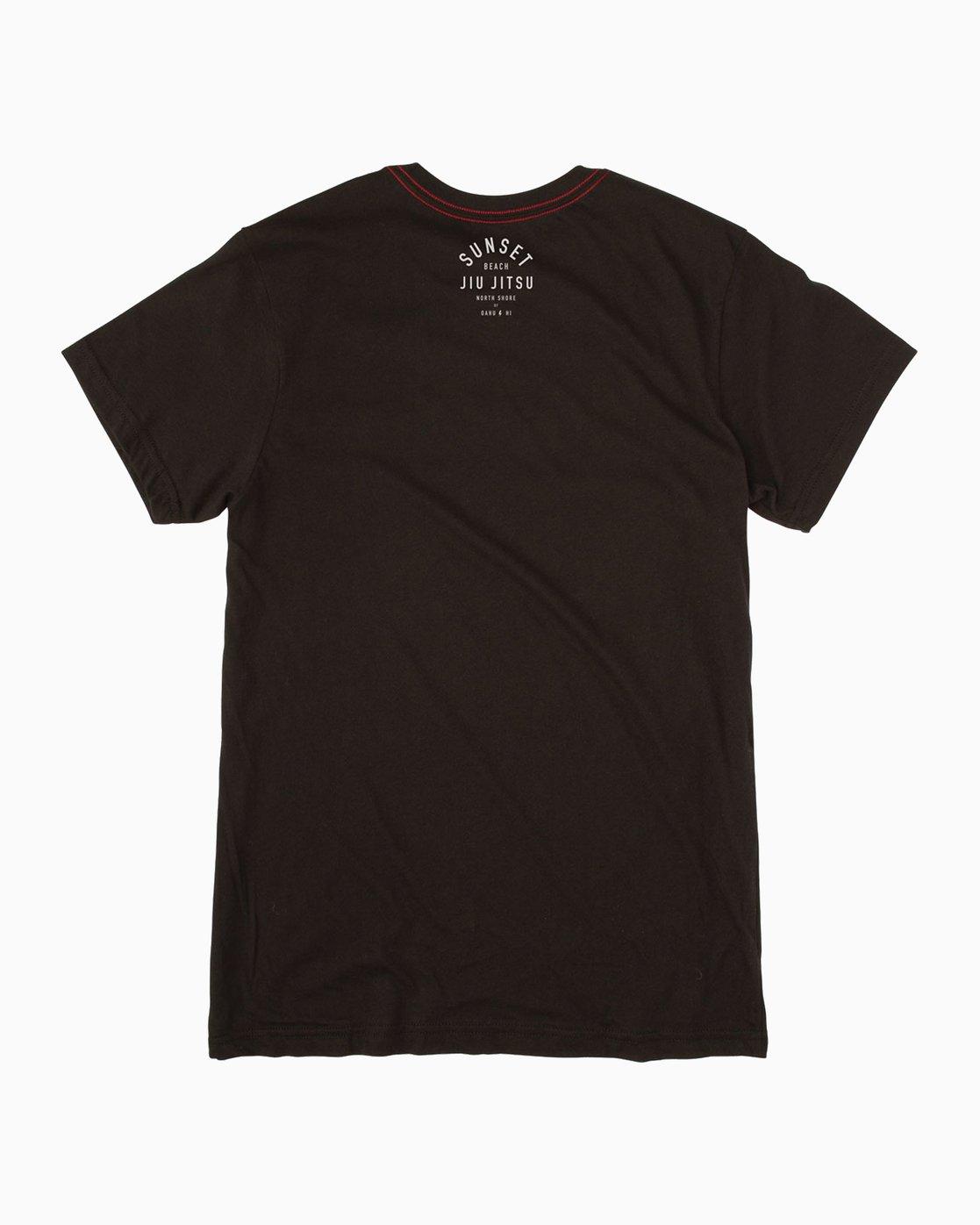 1 Sunset Beach Jiu Jitsu II T-Shirt Black M422TRJM RVCA