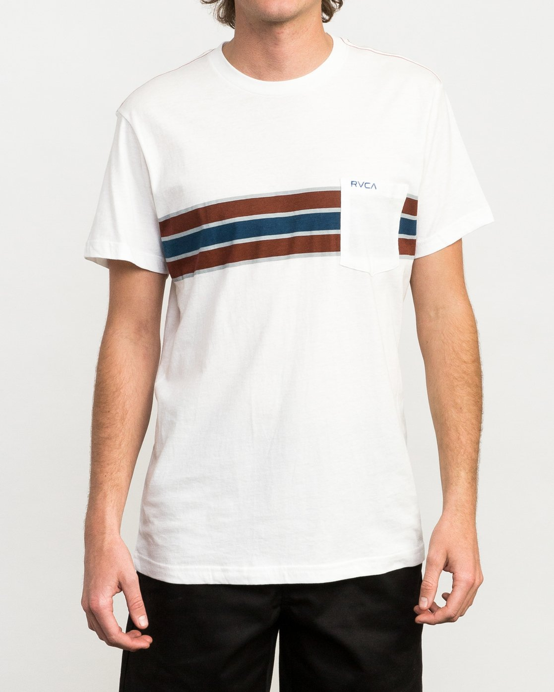 1 Day Stripe Pocket T-Shirt  M424QRDA RVCA